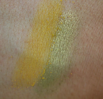 Sleek on left, Inglot on right