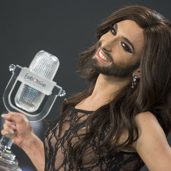 Conchita with the winners trophy - Image Credit Albin Olsson/Wikimedia Commons