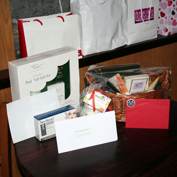 A small selection of the raffle prizes