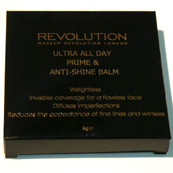 Ultra All Day Prime & Anti-Shine Balm outer packaging